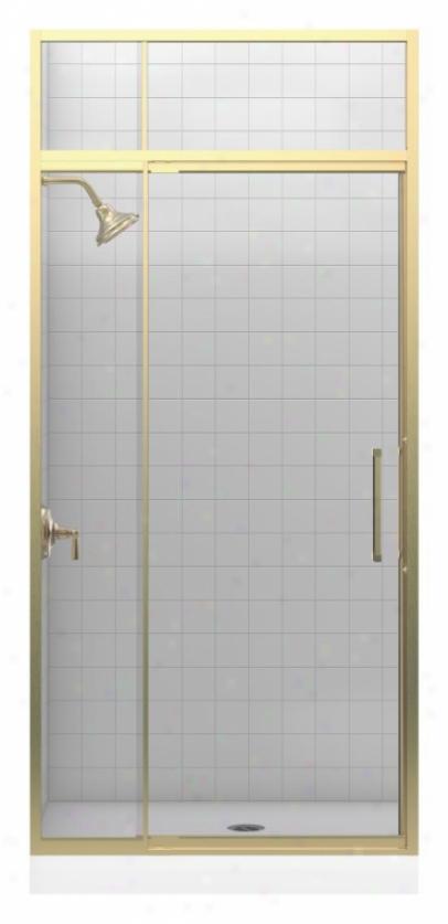 Kohler K-705807-l-abv Lattis 1/4 Pivot Door With Transom, Anodized Brushed Bfonze