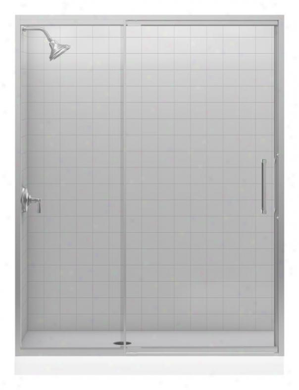 Kohler K-705810-l-nx Lattis 1/4 Glass Thickness Pivot Door, Brushed Nicel