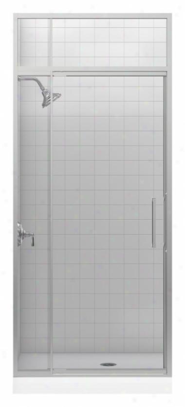 Kohler K-705819-l-nx Lattis 3/8 Pivot Door With Transom, Brushed Nickel