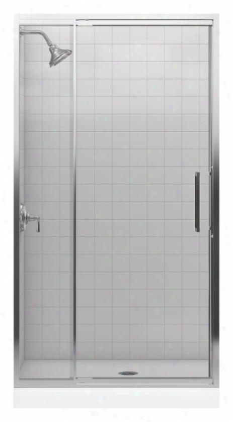 Kohler K-705820-l-sh Lsttis 3/8 Pivot Door, Bright Silver