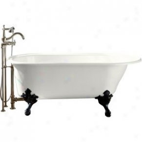 Kohler K-710-w-0 Iron Works Historic Bath With White Exterior, Happy