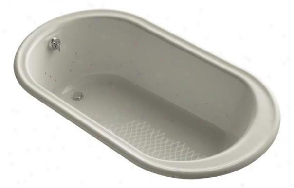 Kohler K-712-gsn-g9 Iron Works Bubblemassage 5.5' Bath With Vibrant Polished Nickel Jet Color, Sandb