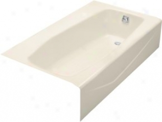 Kohler K-714-47 Villager Bath With Extra 4 Ledge And Right-hand Drain, Almond