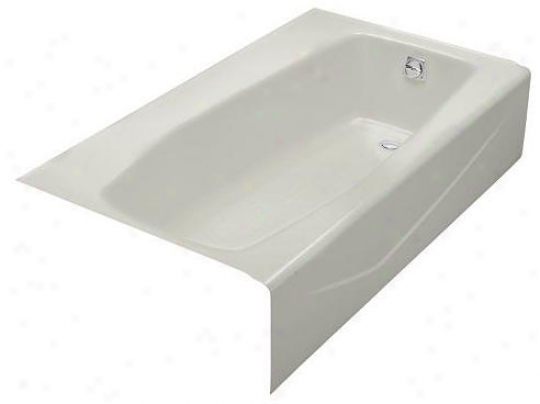 Kohler K-714-95 Villager Bath With Extra 4 Ledge And Right-hand Drain, Ice Grey