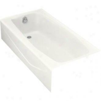 Kohler K-715-0 Villager Bath With Left-hand Drain, White