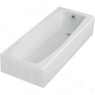 Kohler K-716-0 Villager Bath With Right-hamd Drain, White