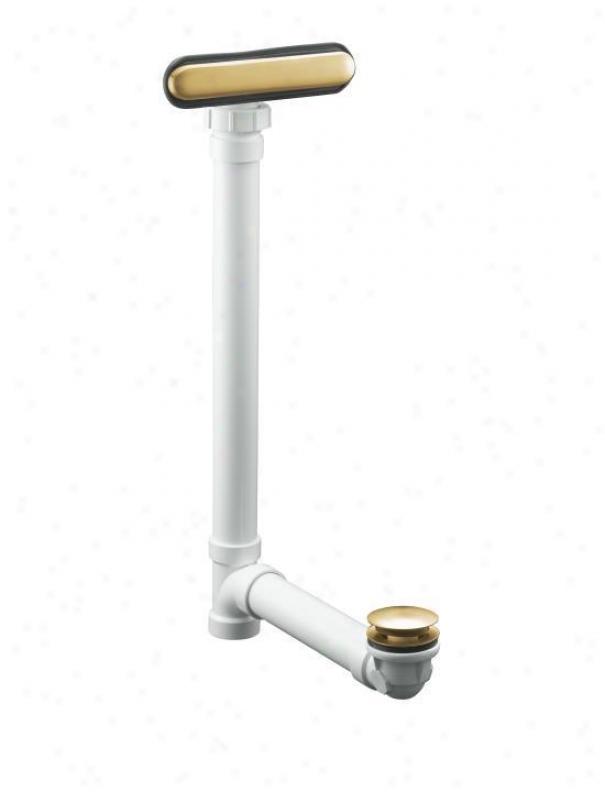 Kohler K-7272-bgd Clearflo Slotted Overflow Bath Drain, Vibrant Moderne Brushed Gold