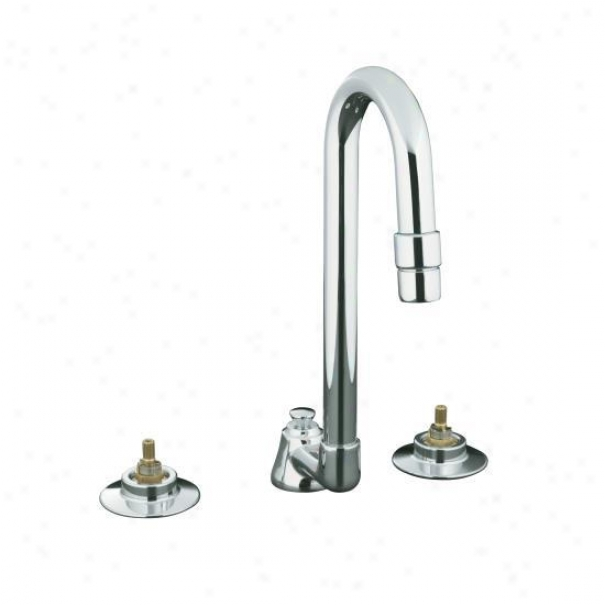 Kohlwr K-7465-k-cp Triton Widespread Lavatory Base Faucet With Pop-up Drain, Polished Chrome