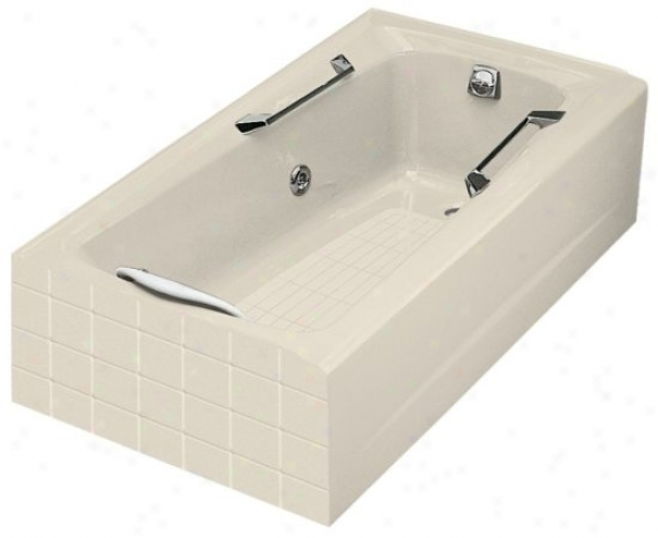 Kohler K-784-h2-47 Guardian Whirlpool With Right-hand Drain, Almond
