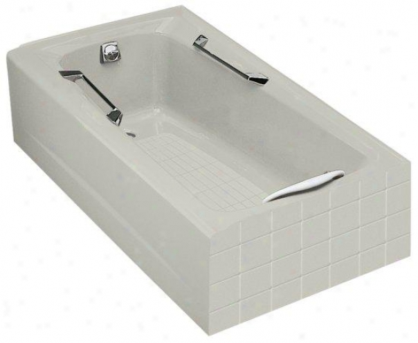 Kohler K-785-95 Guardian 5' Bath With Left-hand Empty, Ice Grey