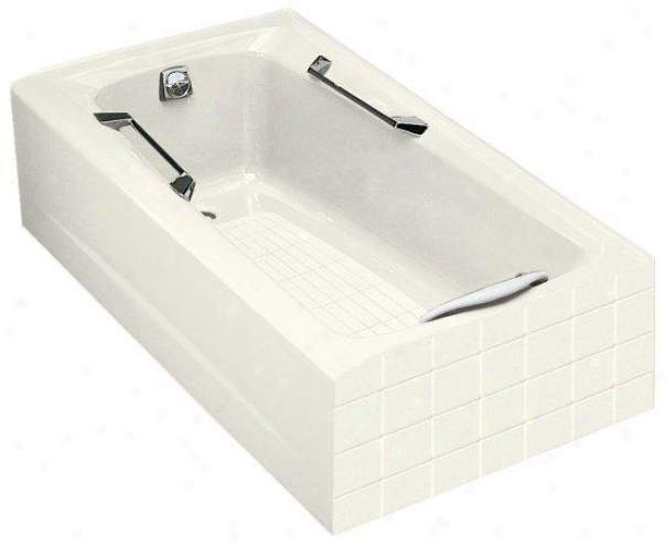 Kohler K-785-96 Guardian 5' Bath With Lft-hand Drain, Biscuit