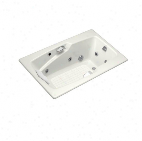 Kohler K-792-hj-0 Steeping Whirlpool With Grip Rail Drillings And Cystom Pump Location, White
