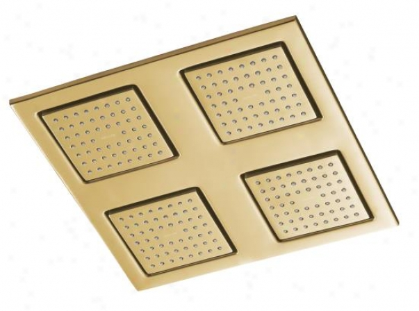 Kohler K-8030-bgd Watertile Square Rain Overhead Showering Panel, Vibrant Moderne Brushed Gold