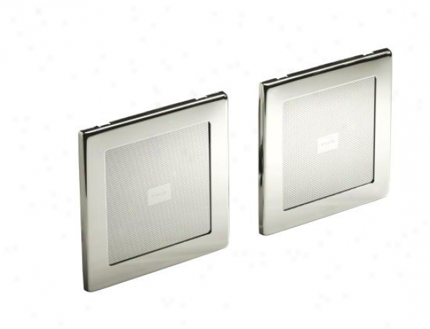 Kohler K-8033-sn Soundtile Speakers (pair Of Speakers), Vibrating Polished Nickel