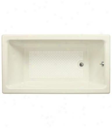 Kohler K-804-r-0 Kathryn 5.5' Bath With Integral Tile Flange And Right-hand Drain, White