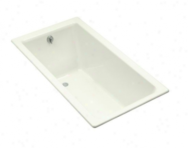 Kohler K-804-r-ng Kathryn 5.5' Bath With Integral Tile Flange And Right-hand Drain, Infusion  Green