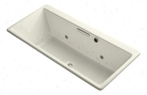 Kohler K-820-gcsn-ff Reve 5.5' Bubblemassage Bath By the side of Chromatherapy And Vibrant Polished Nickel Expose