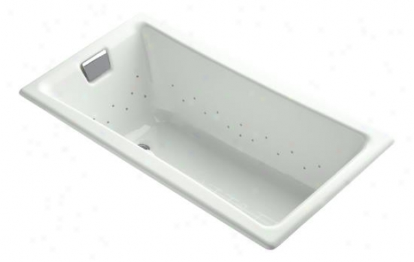 Kohler K-852-gsn-ff Tea-for-two Bubblemassage 5' Bath With Vibrant Polished Nickel Airjet Color, Wave