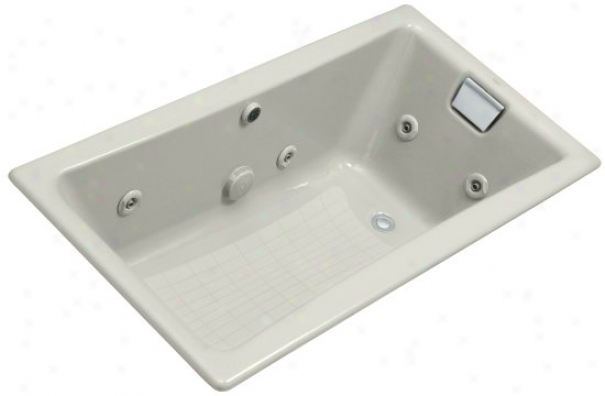 Kohler K-852-hb-95 Tea-for-two 5' Whirlpool With Custom Pump Location, Ice Grey