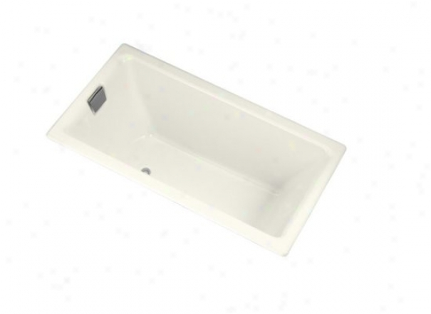 Kohler K-855-l-96 Tea-for-two 5.5' Bath With Integral Tile Flange And Left-hand Drain, Biscuit