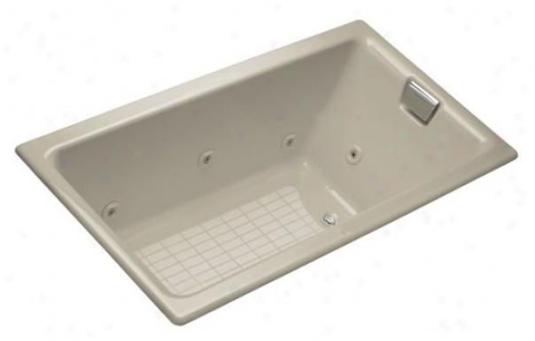 Kohler K-856-he-g9 Tea-for-two 5.5' Whirlpool With Custom Pump Location, Sanddbar
