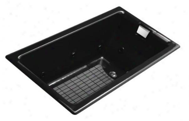 Kohler K-856-hn-7 Tea-for-two 5.5' Vortex With Custom Pump Location, Black