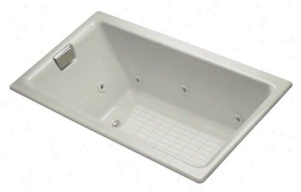 Kohler K-856-lh-95 Tea-for-two 5.5' Drop-in Whirlpool With Left-handD rain, Ice Grey