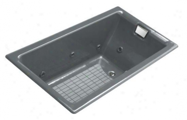 Kohler K-856-th-ft Tea-for-two 5.5' Drop-in Whirlpook Woth Right-hand Drain, Basalt