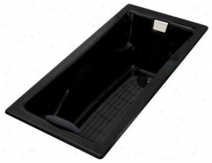Kohler K-863-7 Tea-for-two 6' Bath Bkack