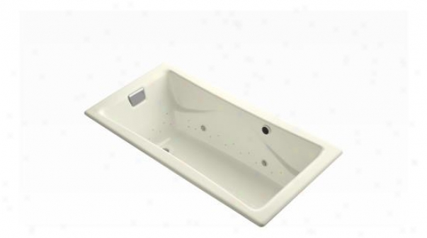 Kohler K-865-gc47-fd Tea-for-two Bubblemassage 6' Bath With Almond Airjet Color And Chromatherapy, C