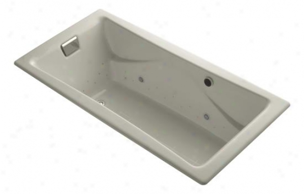 Kohler K-865-gcsn-g9 Tea-for-two Bubblemassage 6' Bath With Vibrant Polished Nickel Airjet Finish An
