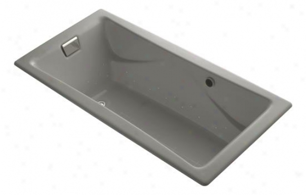 Kohler K-865-gsn-k4 Tea-for-twoo Bubblemassage 6' Bath With Vibrant Refined Nickel Airjet Finish, Ca