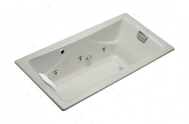 Kohler K-865-h2-95 Tea-for-two 6' Drop-in Whirlpool, Coat  Grey