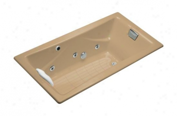 Kohler K-865-hd-33 Tea-for-two 6' Whirlpool With Custom Pump Location, Mexican Sand
