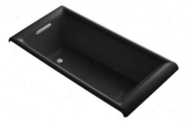 Kohler K-896-7 Parity Cast Iron Drop-in Bath, Black Black