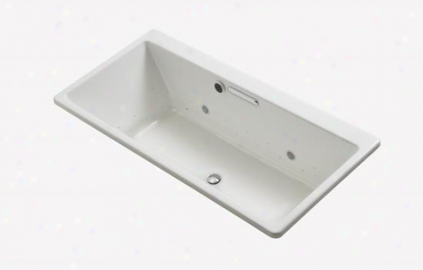 Kohler K-899-gcbn-0 Reve Bubblemassage Bath Through  Brushed Nickel Airjets And Chromathrrpy, White