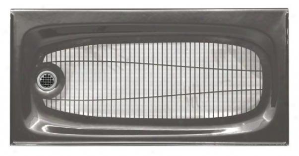 Kohler K-9053-58 Salient 60 X 30 Receptor In the opinion of Left-hand Drain, Thunder Grey