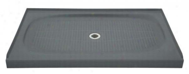 Kohler K-9055-ft Salient 60 X 30 Recepto5 With Center Drain, Basalt