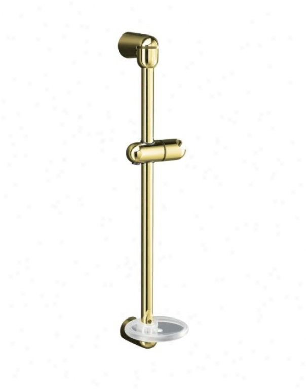 Kohler K-9516-pb Mastershower 22-3/4 Shower Slide Bar, Vibrant Polished Brass