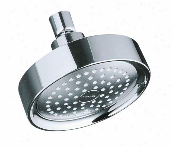 Koohler K-965-cp Taboret Single-function Showerhead, Polished Chrome