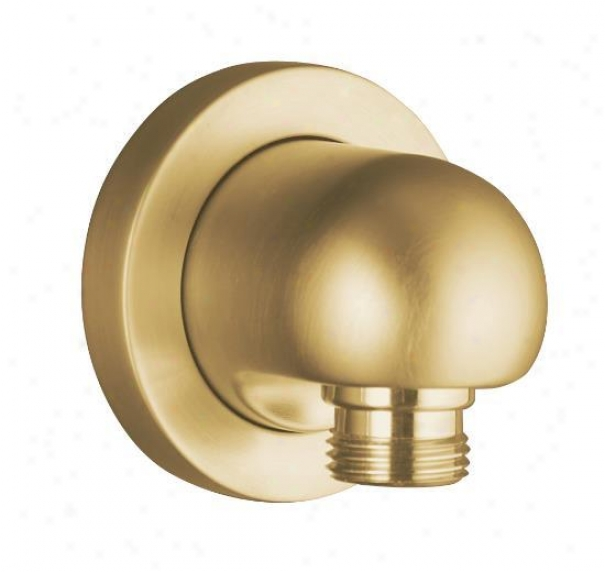 Kohler K-976-bgd Stillness Wall-mount Supply Elbow, Vibrant Moderne Brushed Gold