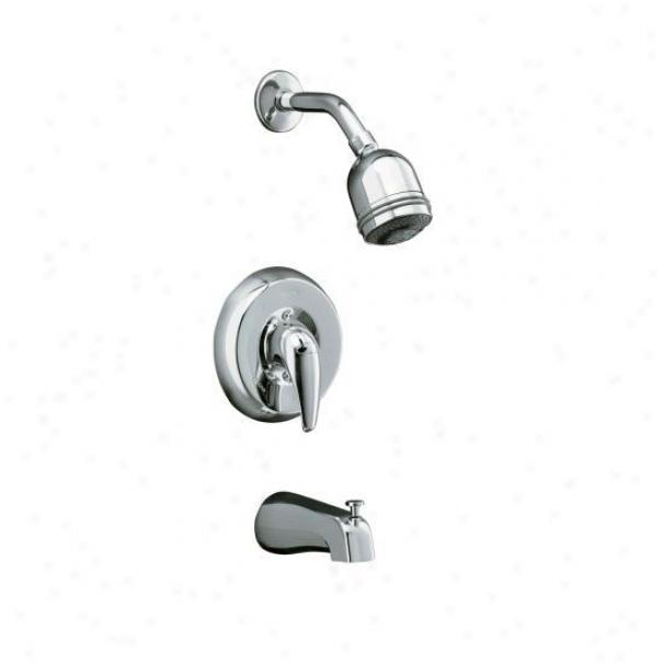 Kohler K-p15603-4s-cp Coralais Shower Faucet Trim Attending Lever Handle And Mastershower 3-way Showerhea