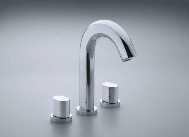 Kohler K-t10059-9-cp Oblo Deck-mount Bath Faucet Trim, Valve Not Included, Polished Chrome