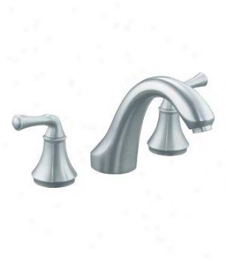 Kohler K-t10278-4a-g Fortãƒ(c) Bath- Or Deck-mount Rim Valve Trim With Traditional Lever Handles,
