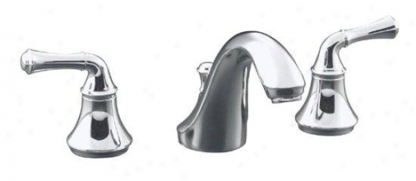 Kohler K-t10292-4a-bn Fortãƒ()c Deck-mount Bath Faucet Trim With Traditional Lever Handles, Valve