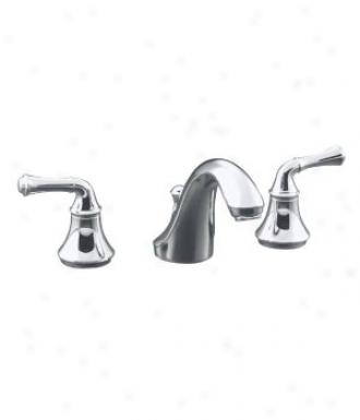 Kohler K-t10292-4a-cp Fortãƒ(c) Deck-mount Bath Faucet Trim With Traditional Lever Handles, Valve