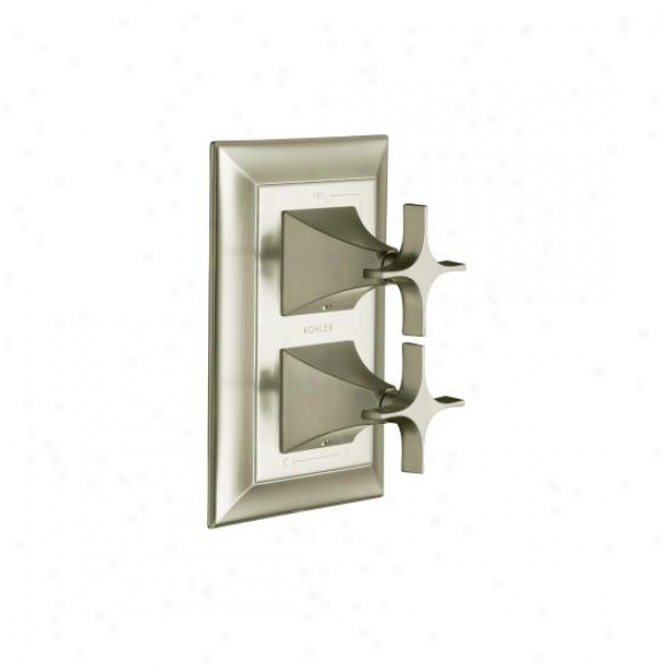 Kohler K-t10422-3s-bn Memoirs Stacked Valve Trim With Stately Design And Cross Handles, Valve Not In
