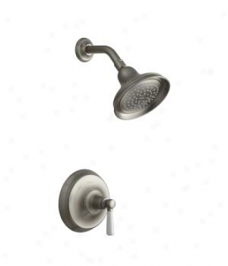 Kohler K-t10583-4p-bn Bancroft Rite-temp Presaure-balancing Shower Faucet Trim With White Ceramic Le