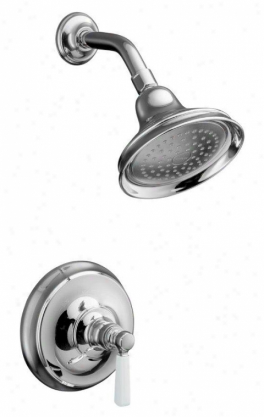 Kohler K-t10583-4p-bv Bancroft Rite-temp Pressure-balancing Shower Faucet Trim, Valve Not Imcluded,