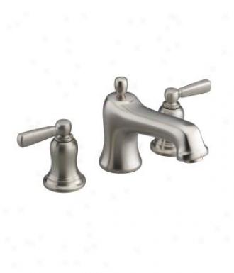 Kohler K-t10591-4-bn Bancroft Deck-kount Bath Faucet Trim With Metal Lever Haneles, Valve Not Includ